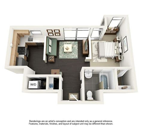 Floor plan 500 sq ft (With images)   Studio apartment